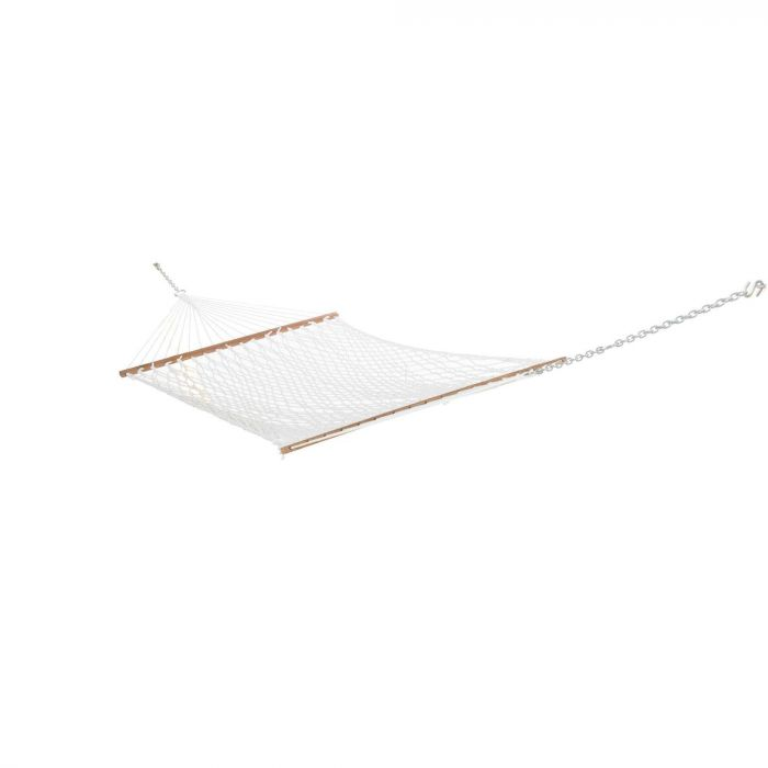 Hatteras Hammocks P-11 Polyester Rope Hammock, Single, White