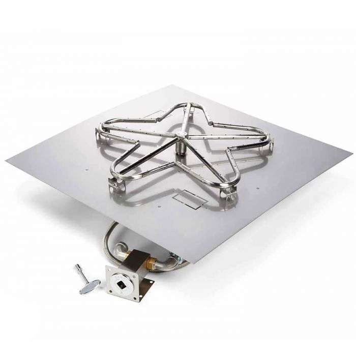 Hearth Products Controls MLFPK Match Light Gas Fire Pit Kit, Square Flat Pan