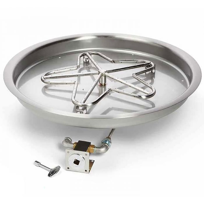 Hearth Products Controls MLFPK Match Light Gas Fire Pit Kit, Round Bowl Pan