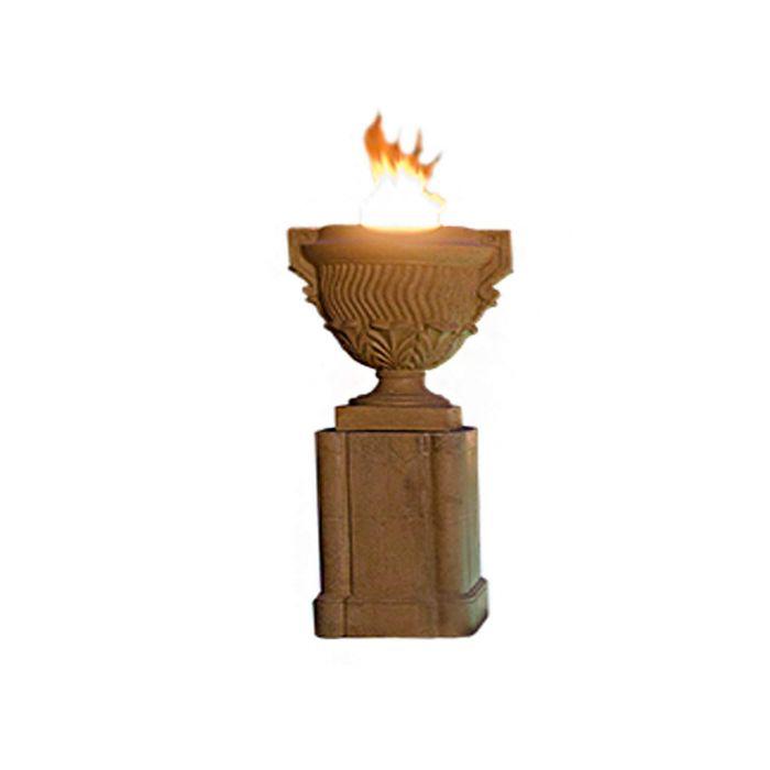 American Fyre Designs Piage Fire Urn with Pedestal