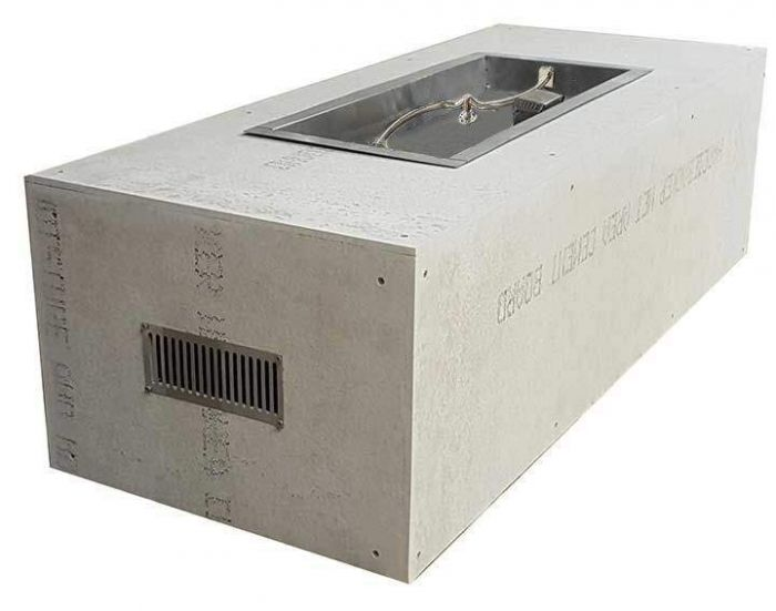 Hearth Products Controls Rectangular 60 x 24 Inch Unfinished Fire Pit Enclosures for 36x14 Inch S-Fire Burner Pans