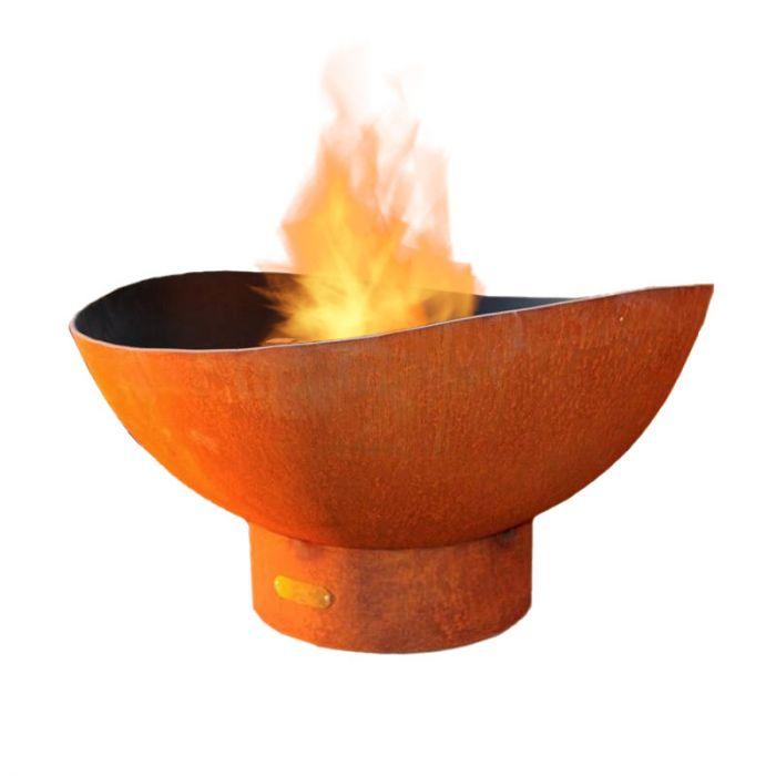 Fire Pit Art Scallop Wood Fire Pit