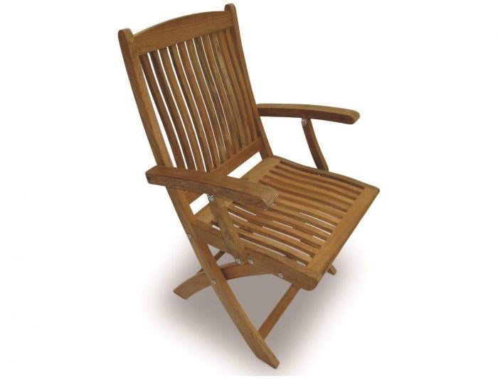 Royal Teak Collection SFC Sailor Teak Folding Arm Chair