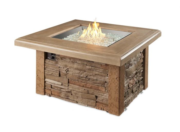 The Outdoor GreatRoom Company SIERRA-2424-M-K Sierra Gas Fire Table, 43x43-Inches