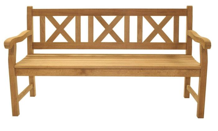 Royal Teak Collection SKB5 Classic Skipper Bench, 60-Inch