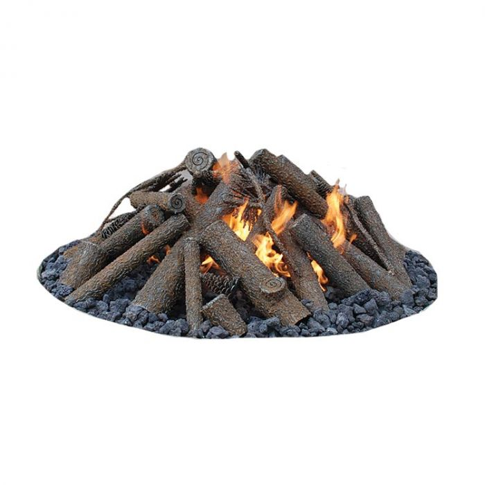 Warming Trends Steel Log Set for 24-Inch Fire Pit