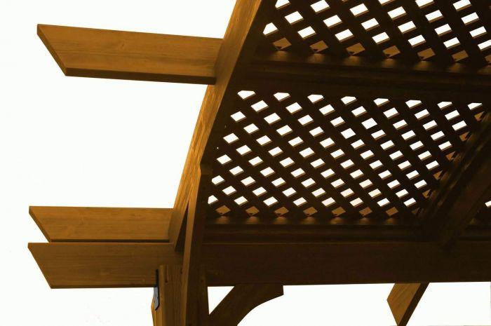 The Outdoor GreatRoom Company SONOMA-LATT Sonoma Pergola Lattice Roof