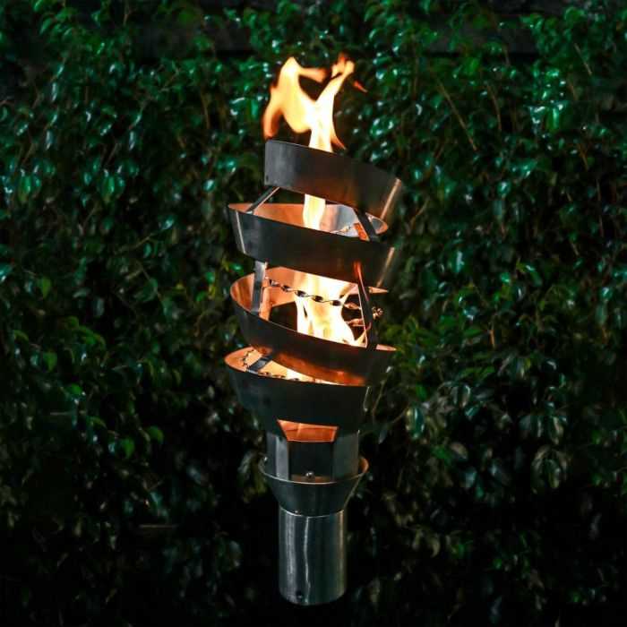 Top Fires by The Outdoor Plus OPT-TCH10xSS Spiral Top-Lite Torch