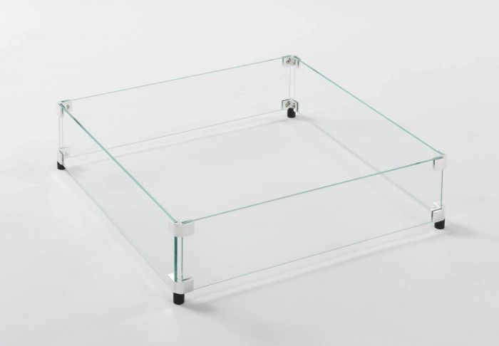American Fyre Designs 8202-WG Square Glass Wind Guard for Comopolitan, Voro and Nest