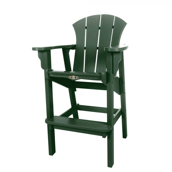 Pawleys Island SRHDC1PG Sunrise High Dining Chair, Pawleys Green