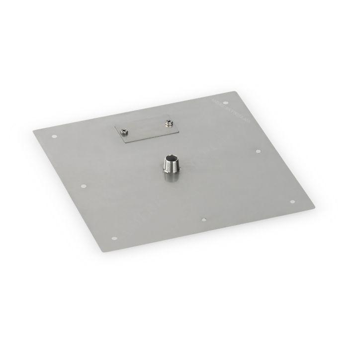 American Fireglass Drop-In Fire Pit Burner Pan, Square Flat, 12x12 Inch