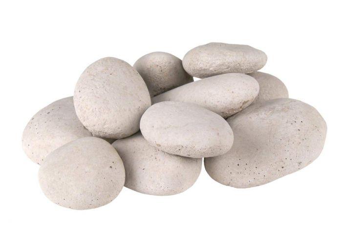 Real Fyre STN-10I River Rock Fyre Stones, Ivory