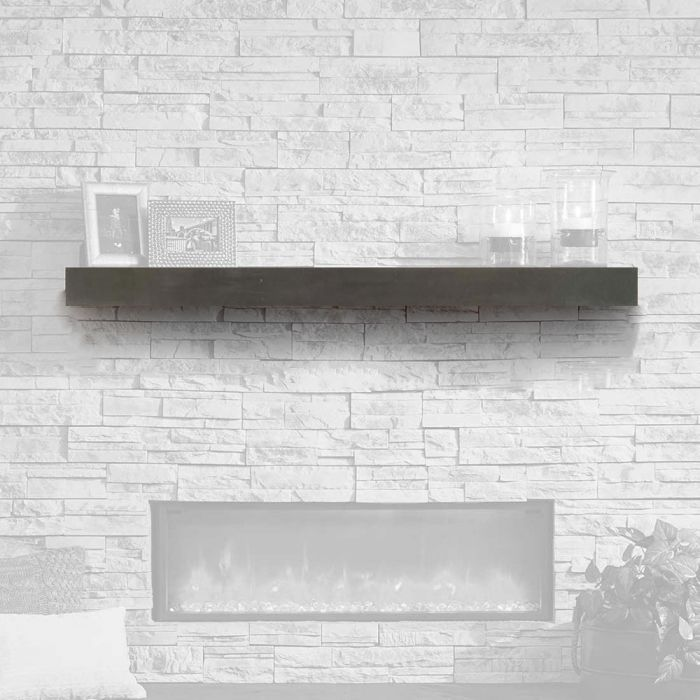 GreatCo GMMMT-72 Polished Midnight Mist Finish Supercast Wood Mantel, 72-Inch