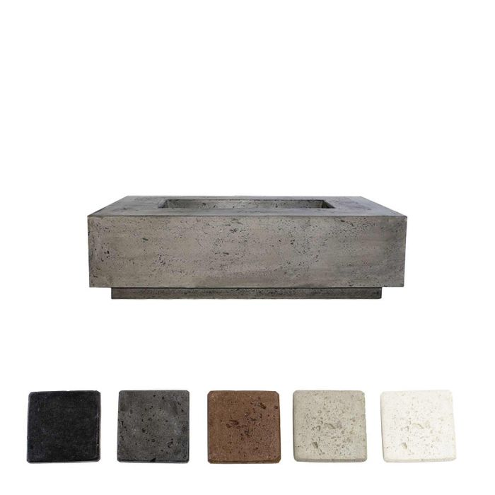 Prism Hardscapes PH-405 Tavola 1 Concrete Gas Fire Pit, 56x38-Inch