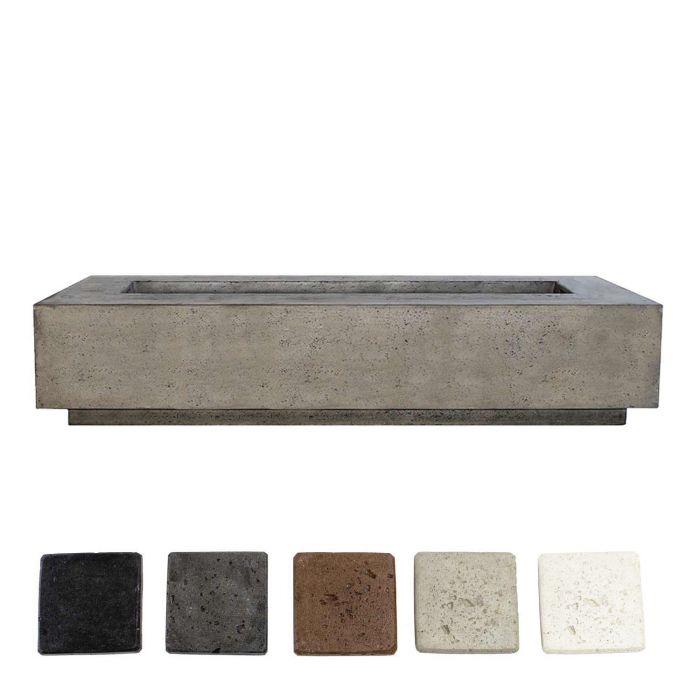 Prism Hardscapes PH-415 Tavola 6 Concrete Gas Fire Pit, 90x38-Inch