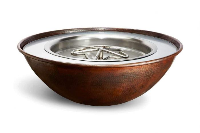 Hearth Product Controls Tempe Hammered Copper Bowl Fire Pit