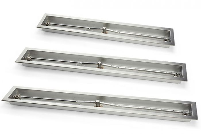 Hearth Products Controls Drop-In Fire Pit Burner Pan, Linear Trough - Burner Included