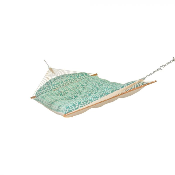 Hatteras Hammocks TSG4 Large Tufted Hammock, Bevel Lagoon