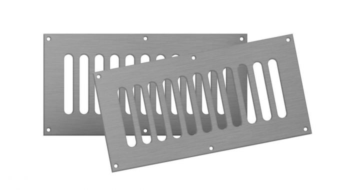 Firegear VENT-KIT-6X12SS Stainless Steel Fireplace Vent Kit, 6x12-inches