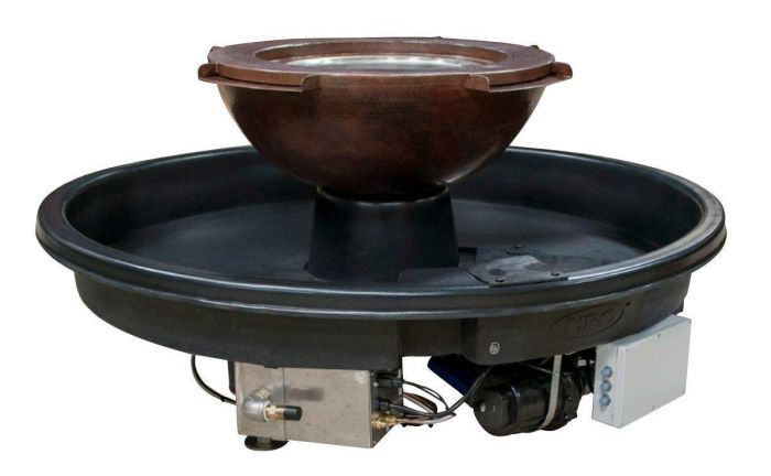 HPC Evolution 360 Series Fire Pit with 4 Scupper Water Feature