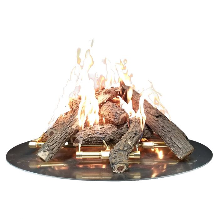 Warming Trends Steel Log Set for 30-Inch Fire Pit