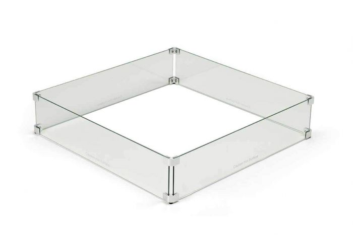 Hearth Products Controls WG37-SQ Fire Pit Glass Wind Guard, Square, 37-Inch