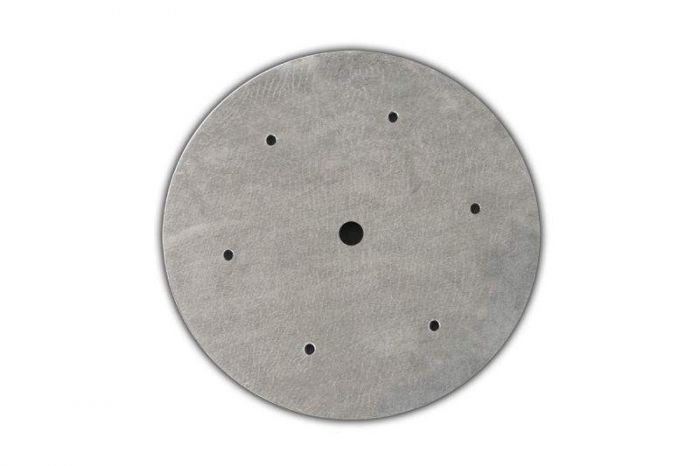 12-inch Round Flat Stainless Steel Fire Pit Burner Pan