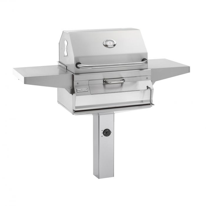 Fire Magic Legacy Charcoal Grill On In-Ground Post