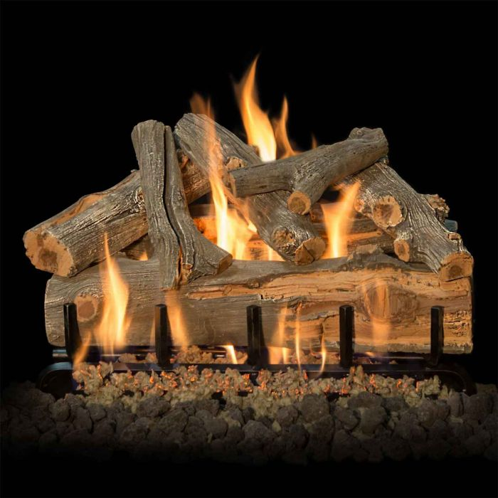 Grand Canyon Arizona Juniper Double Sided Vented Gas Log Set with Stainless Steel Burner