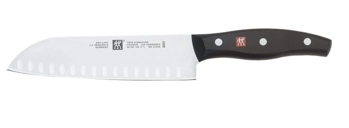 Zwilling J.A. Henckels Twin Signature 7-Inch Hollow Edge Santoku Knife