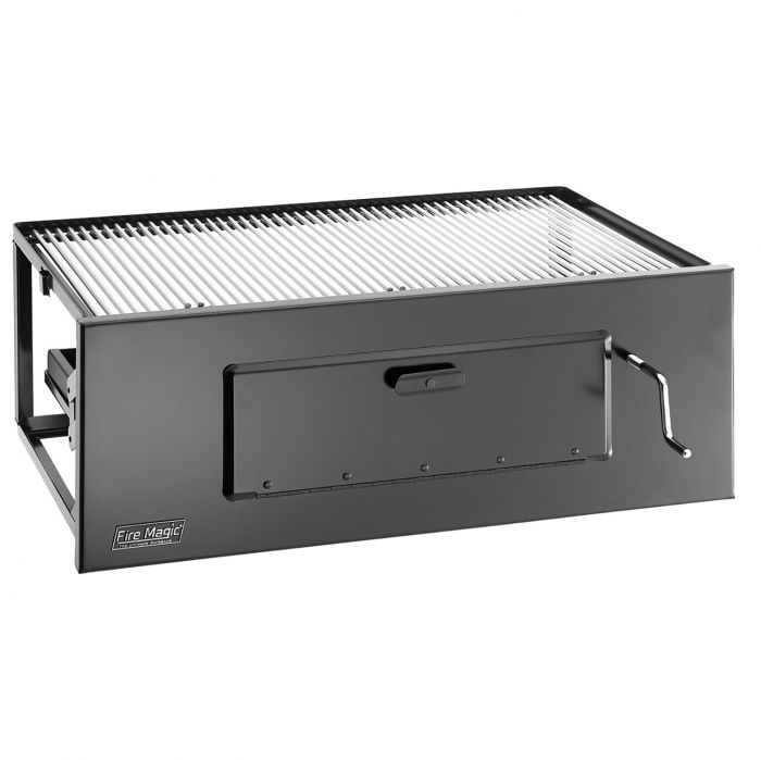 Fire Magic Lift-A-Fire Slide In Charcoal Grill, 23x16-Inch