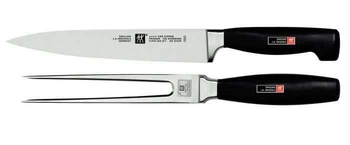 Zwilling J.A. Henckels Four Star 2-pc Carving Knife & Fork Set