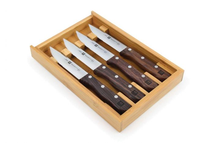 Zwilling J.A. Henckels Steakhouse 4-pc Steak Knife Set with Storage Case