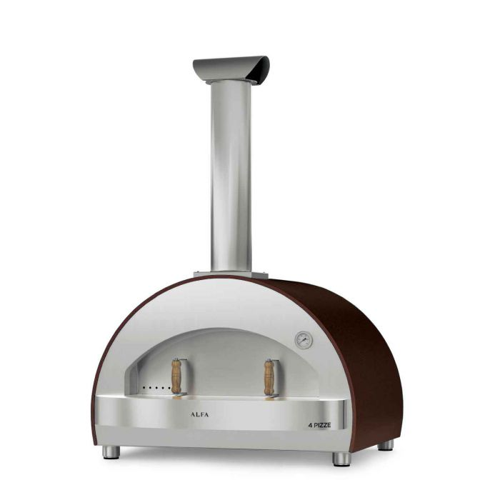 Alfa FX4P-LRAM-T 4 Pizze 31-Inch Countertop Wood-Fired Pizza Oven