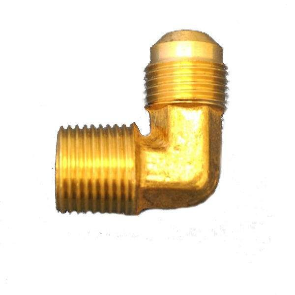 HPC 90 Degree Male Elbow Brass Fitting, 3/8-Inch Tube, 3/8-Inch MIP