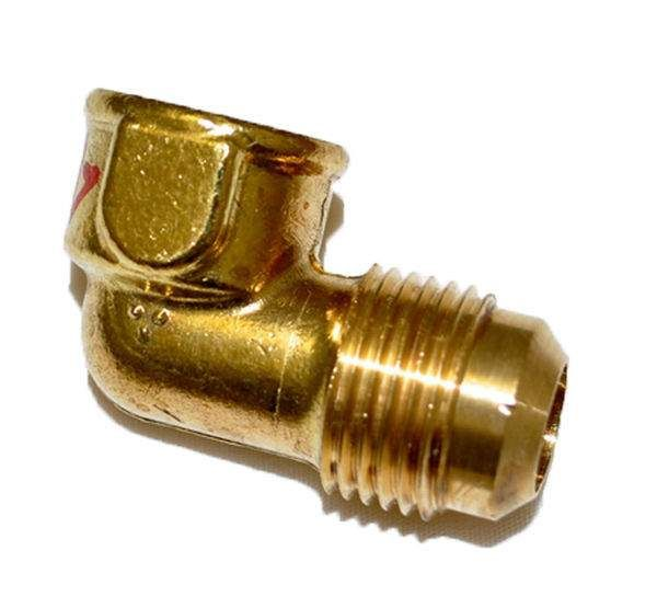 HPC 90 Degree Female Elbow Brass Fitting, 1/2-Inch Tube, 3/8-Inch FIP