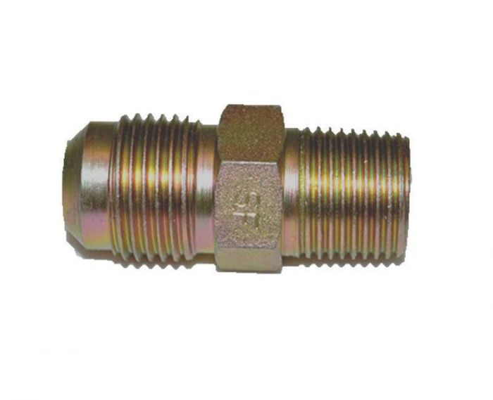 HPC Male Connector Brass Fitting, 1/2-Inch Tube, 3/8-Inch MIP
