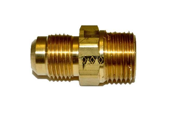 HPC Male Connector Brass Fitting, 1/2-Inch Tube, 1/2-Inch MIP