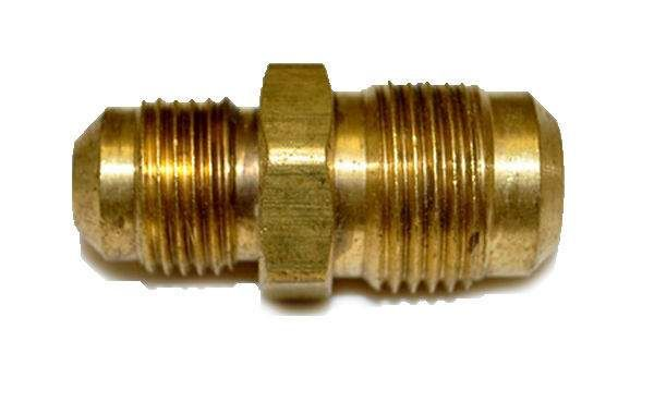 HPC Reducing Union Brass Fitting, 1/2-Inch Tube to 3/8-Inch Tube