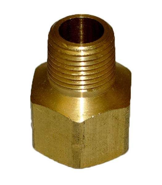 HPC Brass Pipe Adaptor Fitting, 1/2-Inch FIP to 3/8-Inch MIP