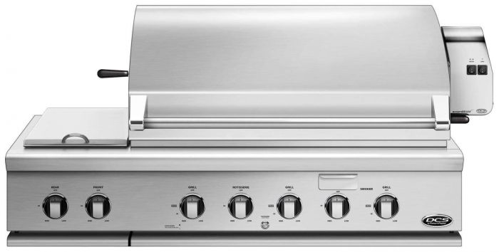 DCS 48-Inch Built-In Gas Grill with Rotisserie and Side Burner