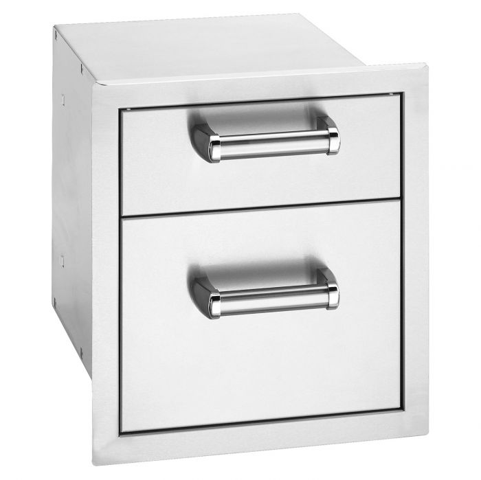 Fire Magic Premium Double Drawer, Flush Mounted