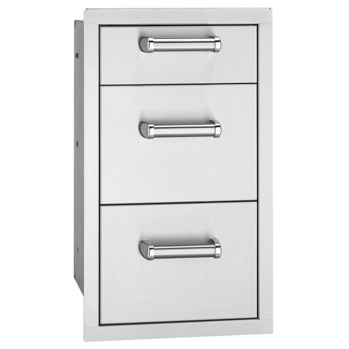 Fire Magic Premium Triple Drawer, Flush Mounted