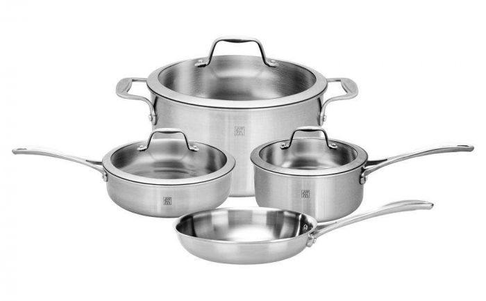 Zwilling J.A. Henckels Spirit 7-piece Stainless Steel Cookware Set