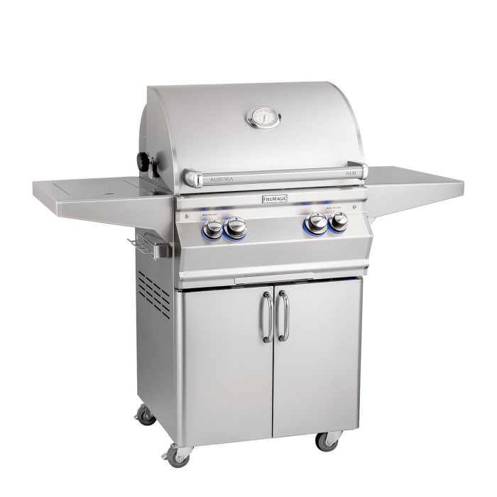 Fire Magic Aurora A430s Gas Grill On Cart with Single Side Burner