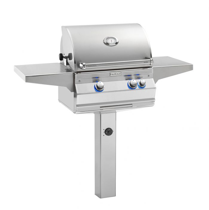 Fire Magic Aurora A430s Analog Series Gas Grill On In-Ground Post