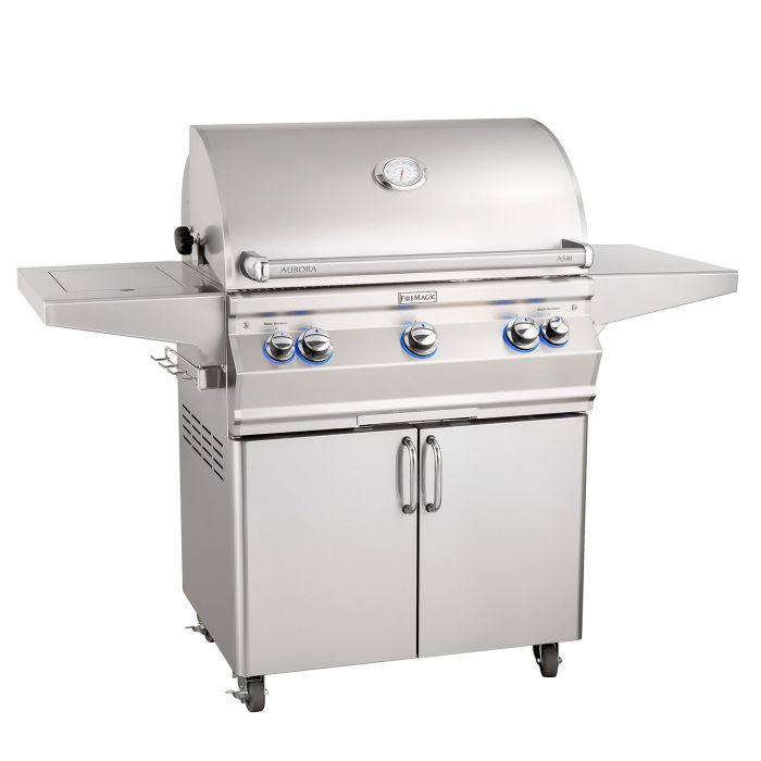 Fire Magic Aurora A540s Analog Series Gas Grill On Cart with Single Side Burner