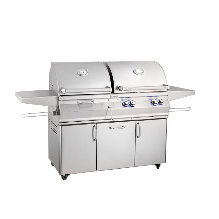 Fire Magic Aurora A830s Analog Series Gas and Charcoal Combination Grill On Cart