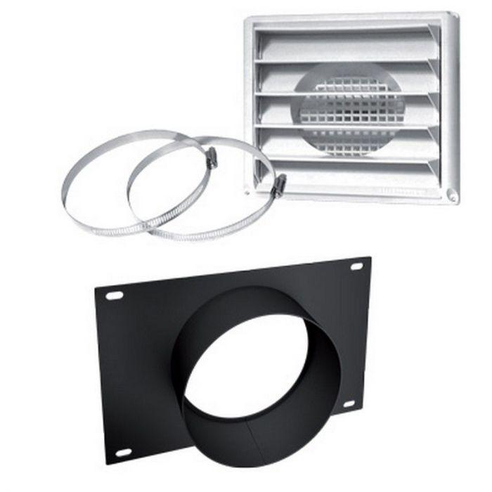 Osburn AC01336 Fresh Air Intake Kit for Osburn 1700, 2000, 2300, 3300 & 3500 Wood Stove on Pedestal