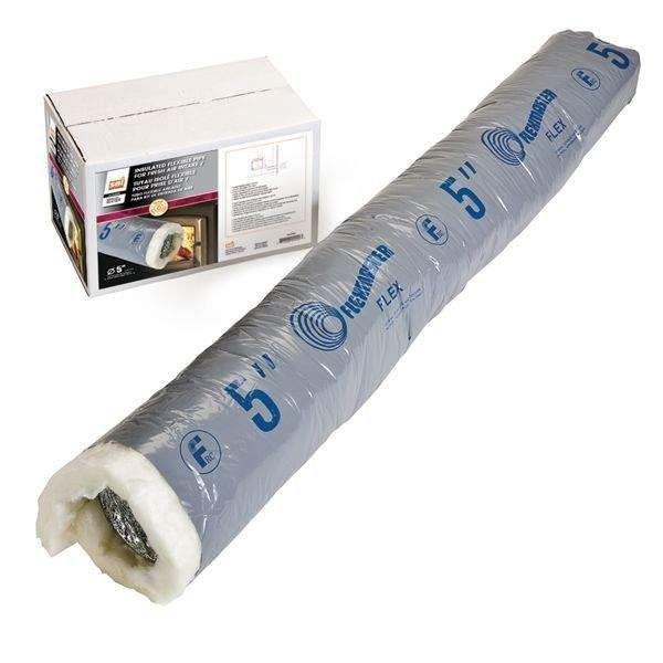 Osburn AC02091 Flexible Insulated Fresh Air Intake Pipe for Osburn Wood Fireplaces, 4-Inch Diameter, 10-Foot Length